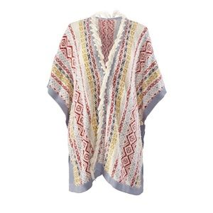 Cabi fringe poncho-Love, Carol Collection